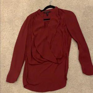 BCBG Maxazria burgundy xs blouse